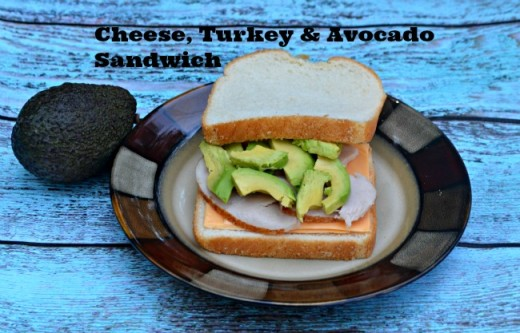 Turkey, Cheese & Avocado Sandwich