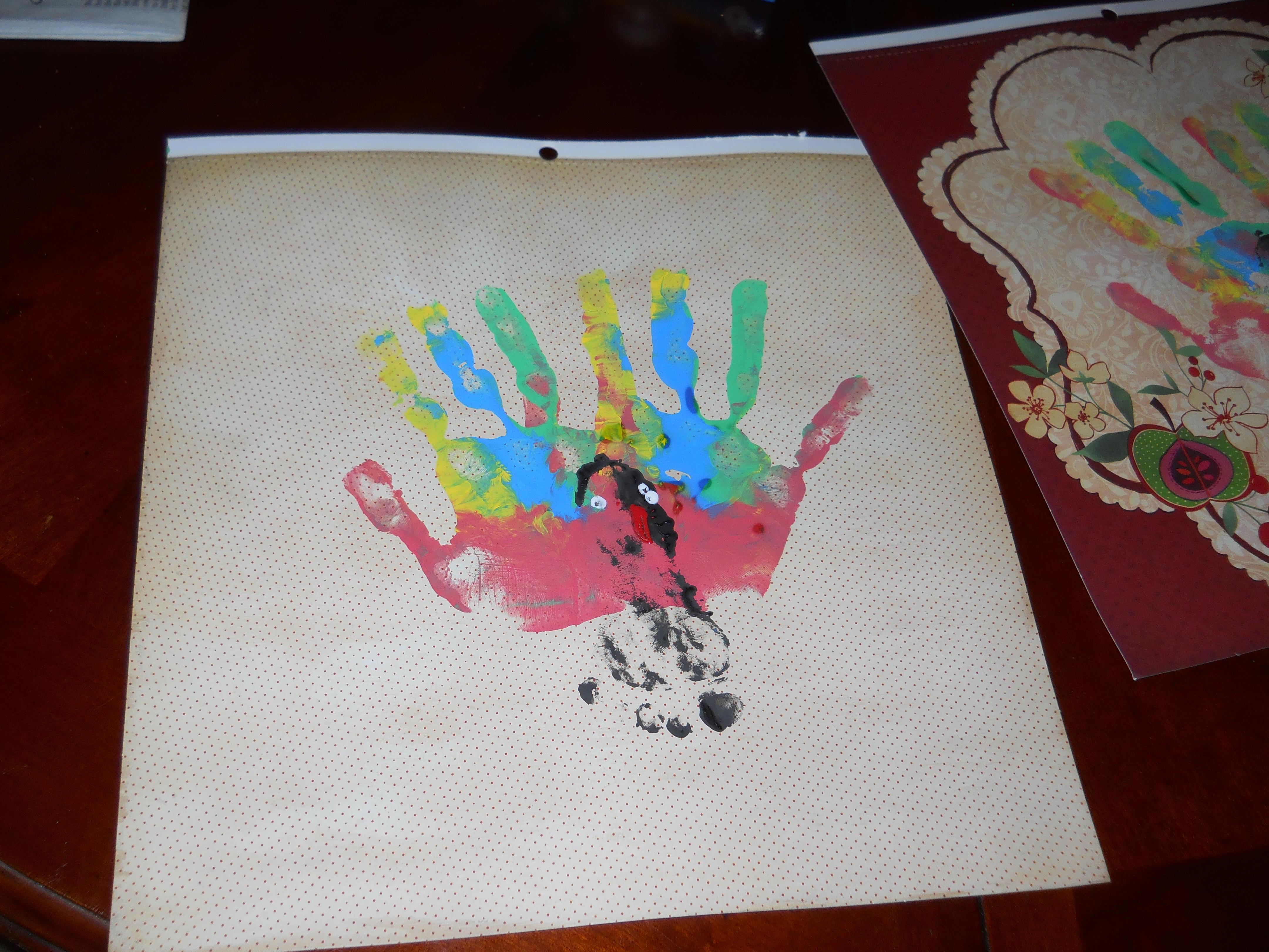 Pinterest In Practice: Handprint Turkey Craft For Kids