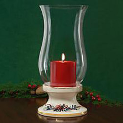 Winter Greetings Hurricane Candle