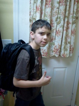 Spencer's first day of middle school. He's too cool for words!