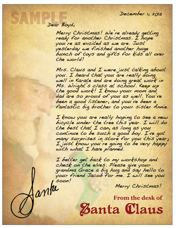 2015 Holiday Gift Guide: SantaSentMeALetter.com A Letter From Santa To Your Child.
