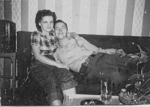 My Mom and Dad in 1949