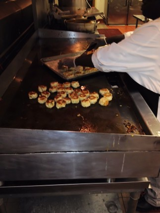 Look at all those delicious Crab Cakes! Someone was going to be very lucky later that night!