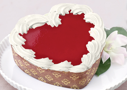 Eli's Cheesecake Heart Shaped White Chocolate Raspberry Cheesecake For Valentine's Day