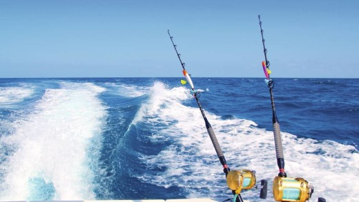 I would go deep sea fishing on the Caribbean