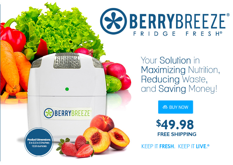 Berry Breeze Saves Your Fruits and Veggies In The Fridge