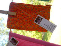 Orange Dot Zip Bag $6