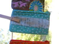 Blue Pieced Zip Bag $6