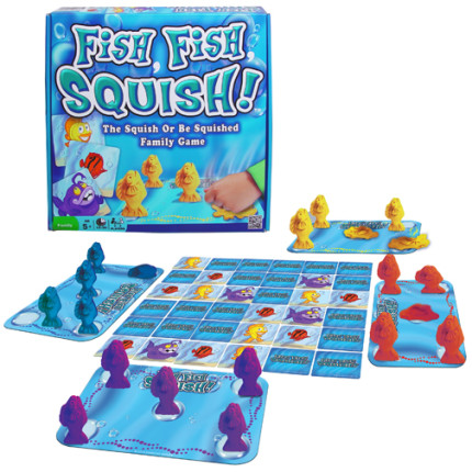 Fish Fish Squish combines playing with modeling dough with a card matching memory game.