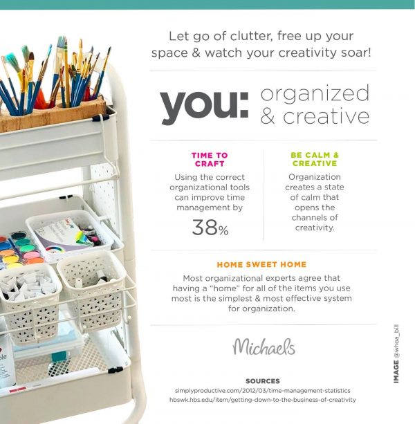 tips for decluttering your craft space
