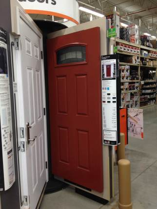 Picking out our door at Home Depot