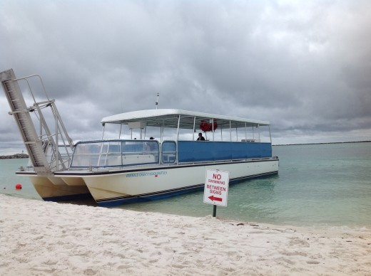 The shuttle boat came back all too soon.