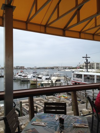 There was a great view at Margaritaville at HarborWalk Village