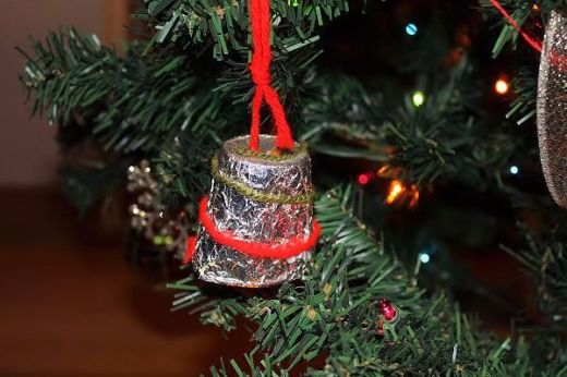 This Dixie Cup Bell was made by my son, Seth in Kindergarten