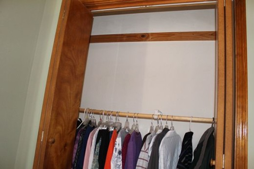 The closet in our bedroom
