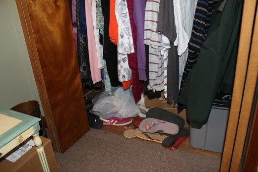 The floor of my bedroom closet