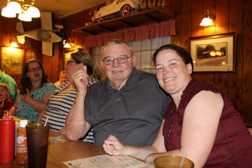Becca and Fabgrandpa, also known as Daddy Jim