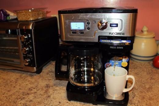 Hamilton Beach FlexBrew CoffeeMaker is so easy to use.