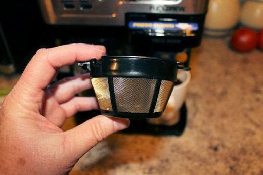 The single serve coffee filter is reusable.