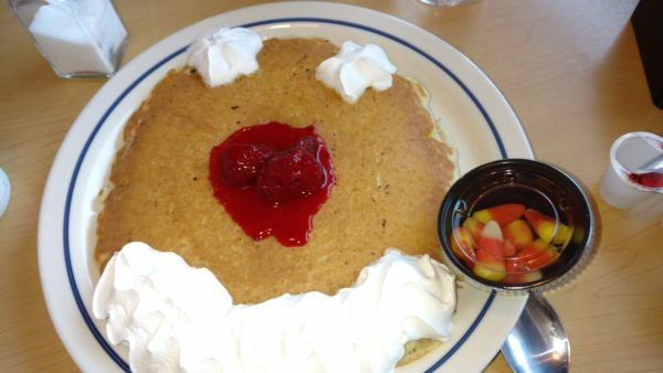 scary face pancakes at ihop