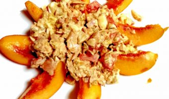 Summer Peach and Chicken Salad