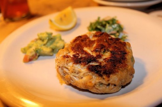 Crab Cake Appetizer Plate