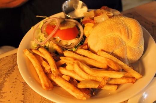 Denney's Cheddar Burger
