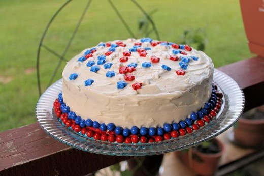 My Patriotic 4th of July cake, decorated with Sweetworks Candy