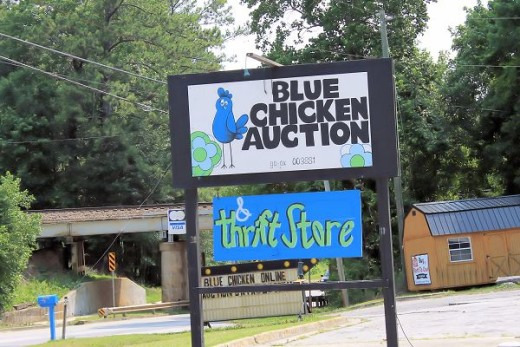 The Blue Chicken Thrift Store in Dallas, GA