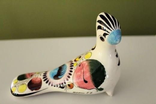 Ceramic bird from Mexico