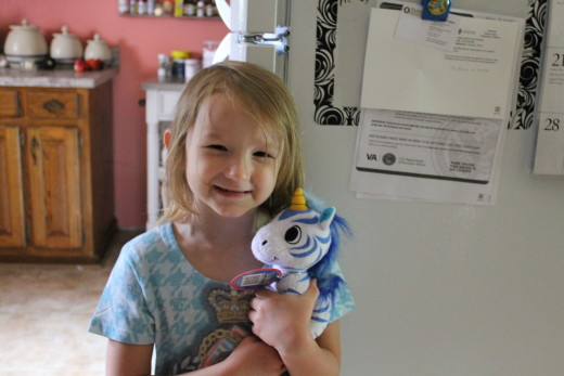 My neighbor's daughter, Gracie, with Pro