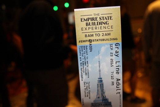 My ticket for the Empire State Building tour.