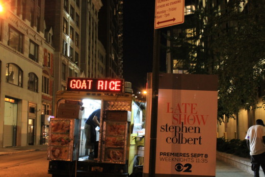 The Goat Rice truck in New  York