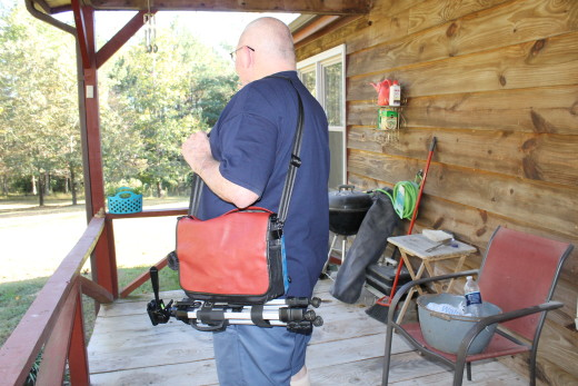 Fabgrandpa with the Tenba Switch 10 Camera bag.