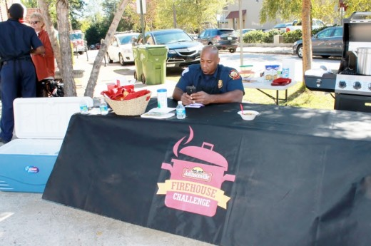 Station 19's serving station for their Sausage & Squash Stew