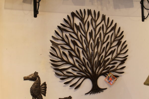 Tree wall sculpture