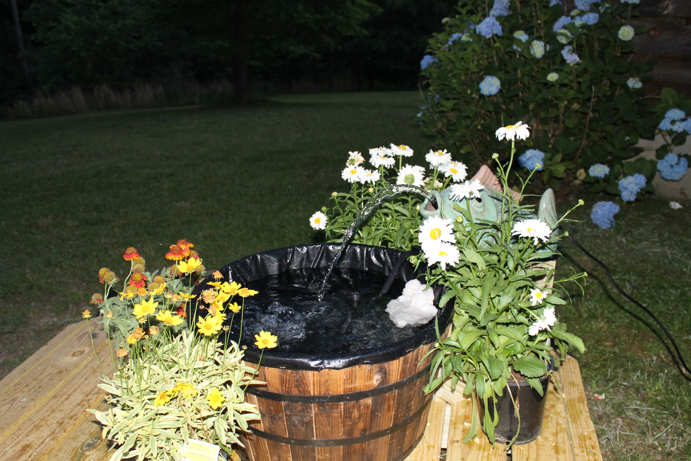 My Smartpond Project: Building A Container Fountain For a Butterfly Garden