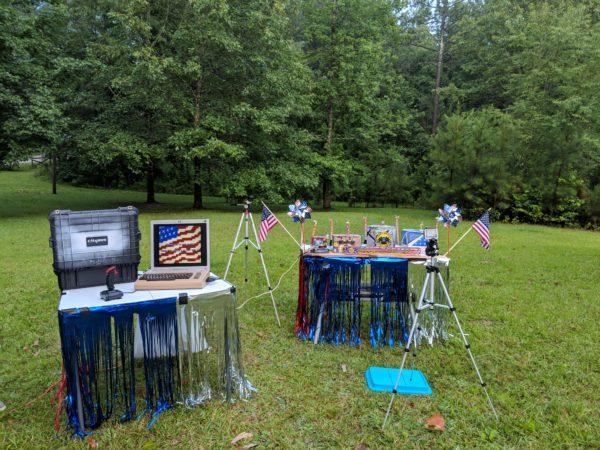 commodore 64 retro computer ignites fireworks