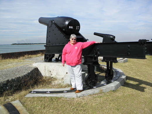 Me next to one of the cannons