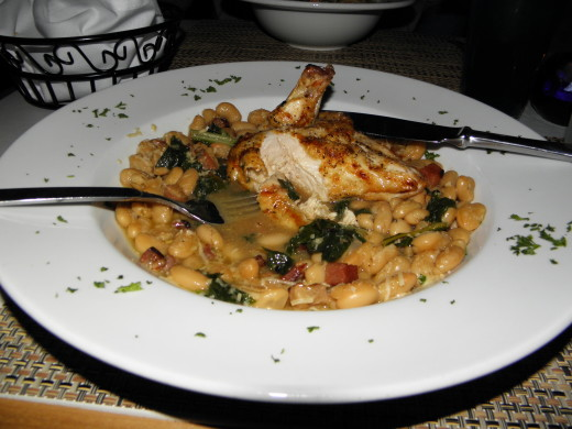 White Beans with Chicken and Chard