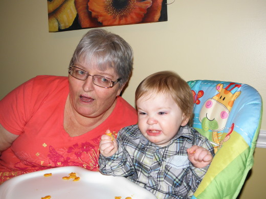 Me and Parker at his first birthday party, January 2014