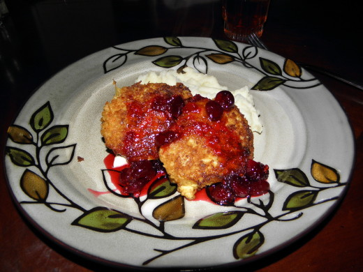 Crab cakes with Cranberry sauce