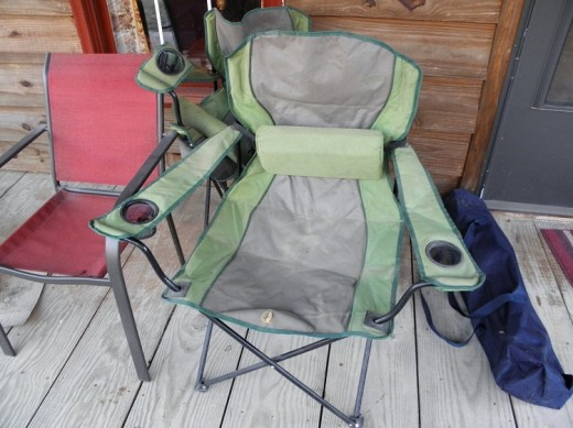 an old canvas chair
