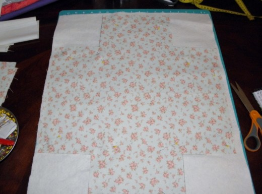making a quilted fabric basket