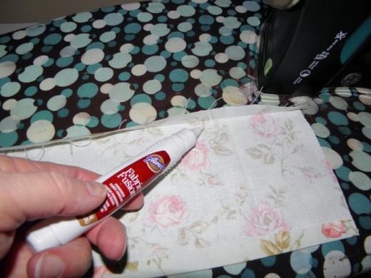 glue, then press again