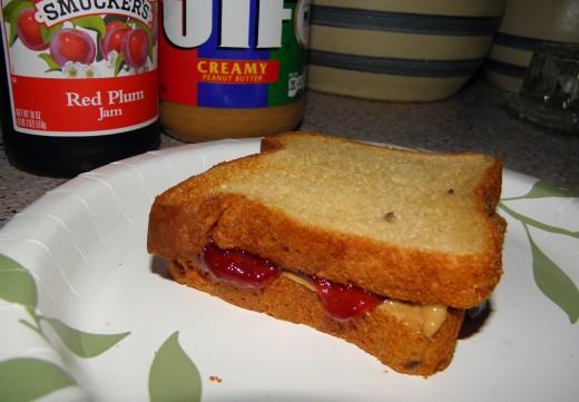 Peanut butter & Jelly is delicious on Glutino Whole Grain Bread