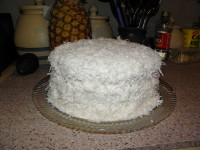My lovely Coconut Cake with Seven Minute Frosting for Easter