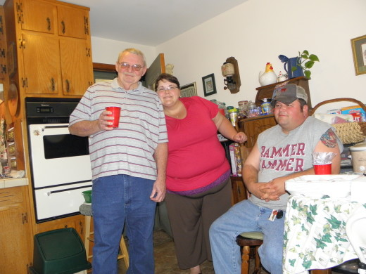 Fabgrandpa, my niece Stefanie, and her husband, Adam.