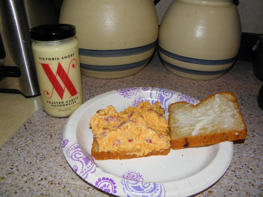 Victoria Amory Roasted Garlic Pimento Cheese Sandwich