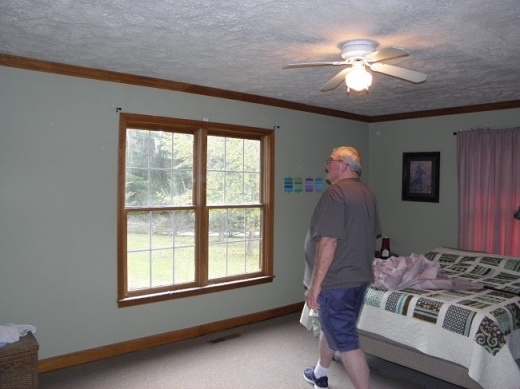 Fabgrandpa took all the curtains down the morning the installers were to arrive.